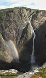 Vattenfall Voringfossen Arkivfoto