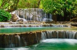 vattenfall xi för kuanglaos luangprabang Fotografering för Bildbyråer