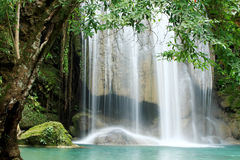 Vattenfallblue Arkivfoto