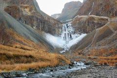 Vattenfallen för changbaiberg Arkivfoton