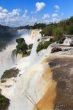 Vattenfallet Foz gör Iguazu, Argentina Arkivbilder