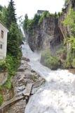 Vattenfallet i dåliga Gastein, Österrike arkivfoton