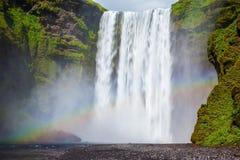 Vattenfallet i Island Fotografering för Bildbyråer