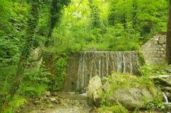 Vattenfallet parkerar Arkivbilder
