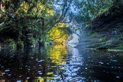 Vattenfallfönster av himmelibitipocaen fotografering för bildbyråer