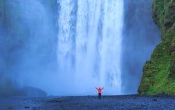 Vattenfallglädje Fotografering för Bildbyråer