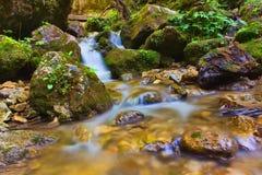 Vattenfalljanosikovediery i Slovakien Royaltyfri Foto