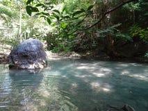 Vattenfallkanchanaburi Thailand Fotografering för Bildbyråer