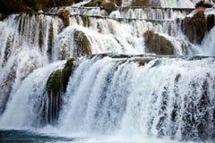 Vattenfallkaskadflod Arkivbild