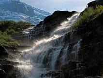 Vattenfallmoment Arkivfoto