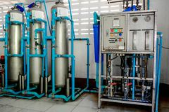 Vattenfiltreringsystem fotografering för bildbyråer