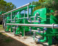 Vattenfiltreringväxt Arkivbild