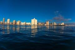 Vattenfoto Beachfront Durban royaltyfri bild