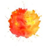 Vattenfärgfärgstänk. Arkivfoto