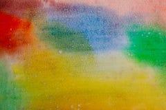 Vattenfärgregnbågebakgrund Arkivbild