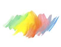 Vattenfärgregnbågen färgar bakgrund Royaltyfri Foto