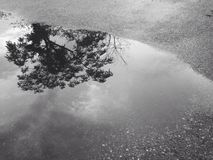 Vatteninloggningsväg arkivfoto