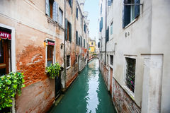 Vattenkanal i Italien Royaltyfria Foton
