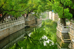 Vattenkanal i Shanghai Arkivbild