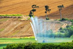 Vattenkanoner som används för bevattning Royaltyfri Fotografi