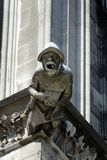 Vattenkastare på den Cologne domkyrkan, Tyskland Arkivfoto