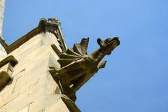 Vattenkastare på kyrka i York Royaltyfri Bild