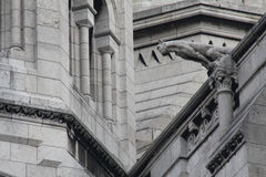 Vattenkastare på Sacren Coeur i Paris Arkivbild