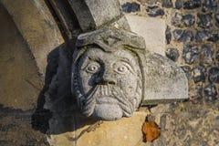Vattenkastare på Waltham Abbey Church Arkivbilder