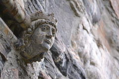 Vattenkastareskulptur av en konung Royaltyfri Bild