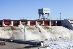 Vattenkraftstation Arkivbild