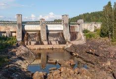 Vattenkraftstation i Imatra arkivbilder