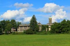 Vattenkraftstation i Podebrady (Tjeckien) Arkivfoto