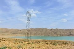 Vattenkraftutveckling i Marocko arkivfoto