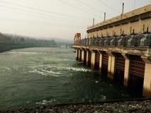 Vattenkraftväxt i Thailand Arkivbilder