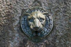 Vattenkran av lejonet av den dricka springbrunnen Arkivfoton