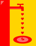 Vattenkran för bruten hjärta Royaltyfri Bild