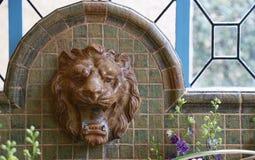 Vattenkran för lejon` s Royaltyfri Foto
