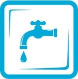 Vattenkran i ramen - symbol för klappvatten vektor illustrationer