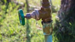 Vattenkranen ut bevattnar Royaltyfria Foton