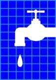 Vattenkransymbol Arkivfoton