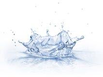 Vattenkronafärgstänk, på vit bakgrund. royaltyfri fotografi