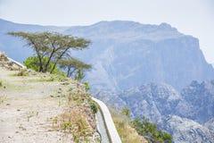 Vattenleverans Jebel Akhdar Oman Arkivbild
