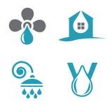 Vattenlogotyper Royaltyfri Illustrationer