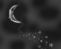 Vattenmåne- och stjärnaslinga arkivfoton