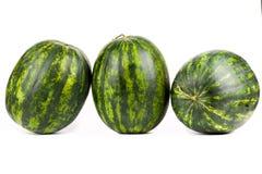 vattenmelnar Grupp av den söta vattenmelon som isoleras på Royaltyfri Foto