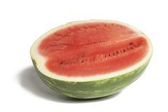 Vattenmelon över vit Fotografering för Bildbyråer