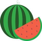 vattenmelon en närande tät mat Royaltyfri Fotografi