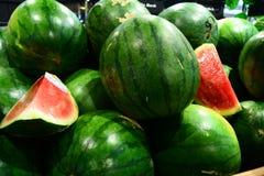 Vattenmelon för din baner och broschyr Fotografering för Bildbyråer