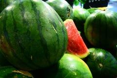 Vattenmelon för din baner och broschyr Royaltyfri Fotografi