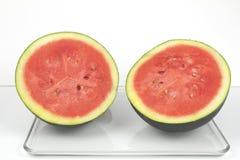 vattenmelon för hälfter två Royaltyfri Fotografi